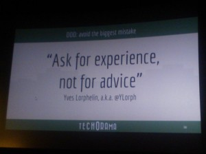 Ask for experience not for advice